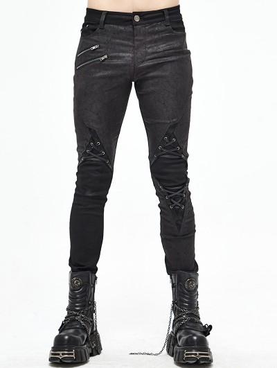 Devil Fashion Black Gothic Punk Long Pants for Men