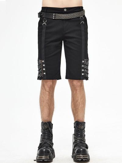 Devil Fashion Black Gothic Punk Rock Daily Wear Short Pants for Men