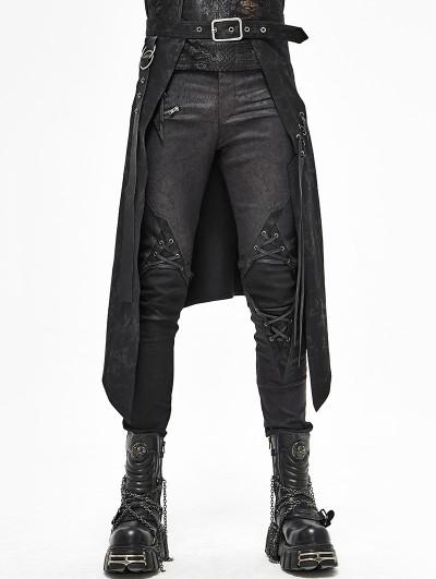 Devil Fashion Black Gothic Punk Rock Half Skirt for Men