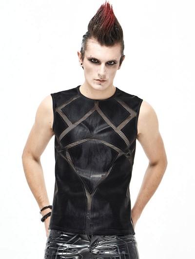 Devil Fashion Black Gothic Punk Sleeveless T-Shirt for Men
