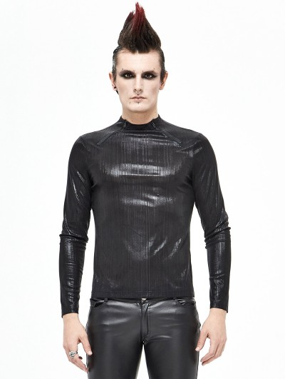 Devil Fashion Black Gothic Daily Wear Long Sleeve T-Shirt for Men