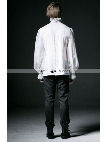 White Chiffon Blouse Long Sleeves