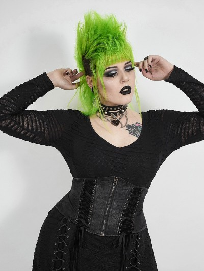 Punk Rave Black Gothic Handsome Plus Size Corset Waistband