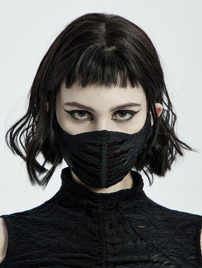 Punk Rave Black Vintage Gothic Gorgeous Face Mask for Women