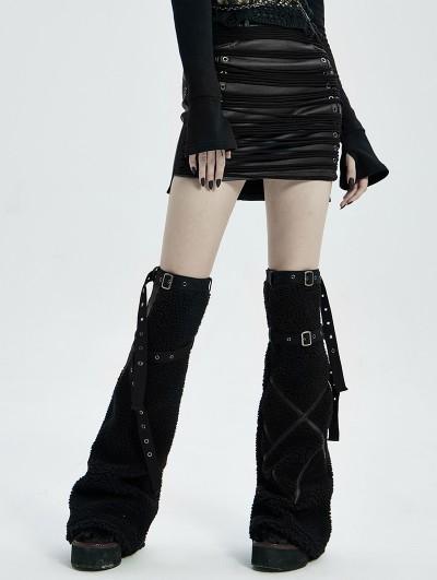 Punk Rave Black Gothic Punk Girls Leg Sleeve for Women