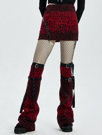 Punk Rave Red Gothic Punk Girls Leg Sleeve for Women