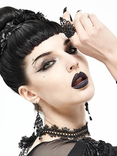 Devil Fashion Black Gothic Dark Queen Ring