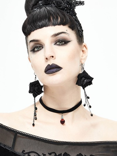 Devil Fashion Red Glass Gothic Necklace