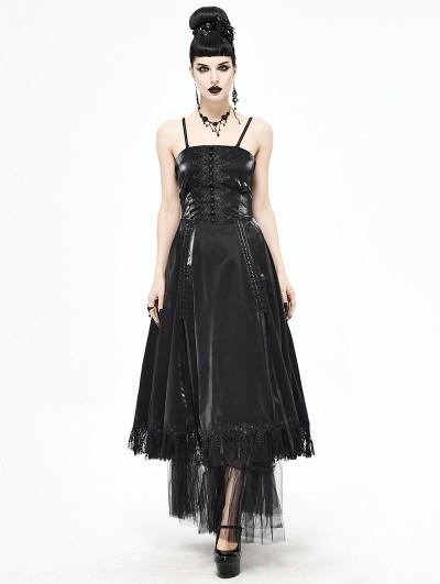 Devil Fashion Black Vintage Gothic Long Prom Party Gown