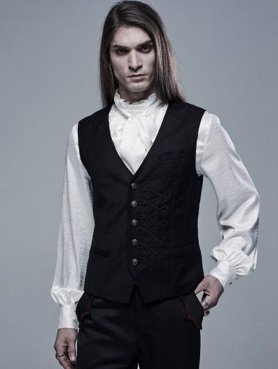 Punk Rave Black Vintage Gothic Gentleman Vest for Men
