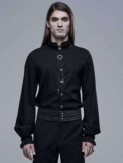 Punk Rave Black Retro Gothic Palace Long Sleeve Shirt for Men