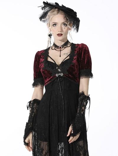 Dark in Love Black Gothic Elegant Lace Gloves for Women