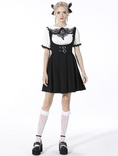 Dark in Love Black Gothic Witch Pentagram Daily Wear Short Dress
