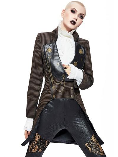 Pentagramme Coffee Women's Steampunk Tailed Jacket