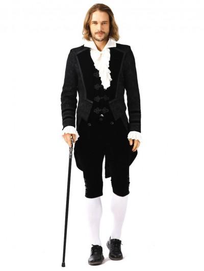Pentagramme Vintage Gothic Black Brocade Mid-Length Party Tailcoat For Men