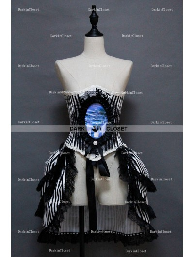 Gothic Corset Steampunk Burlesque Prom Party Dress