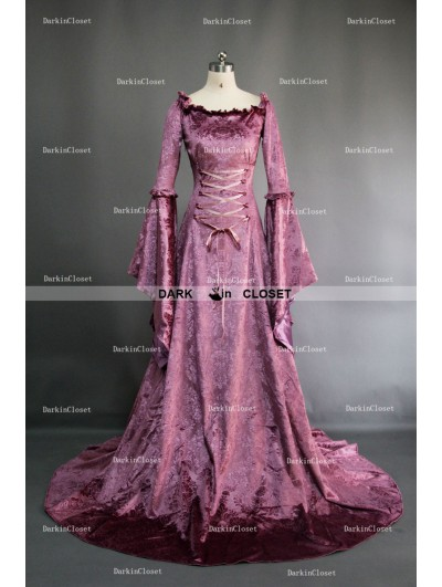 Purple Fancy Velvet Medieval Gown