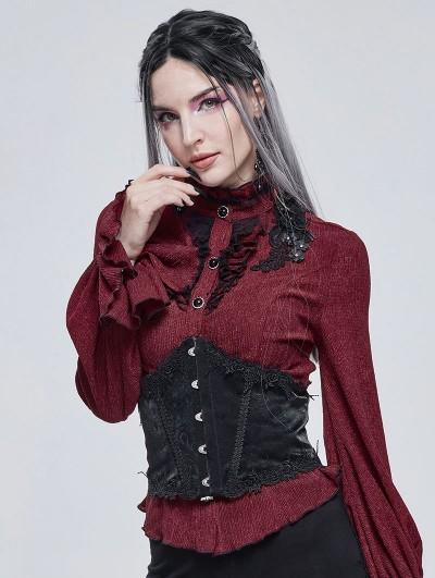 Devil Fashion Black Gothic Lace Underbust Corset Waistband for Women