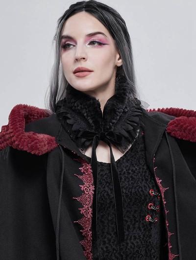 Devil Fashion Black Gothic Faux Fur Warm Collar for Women