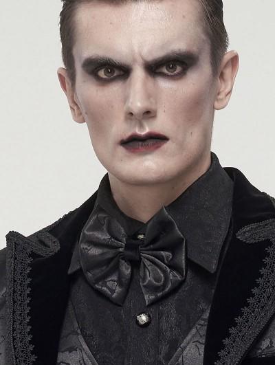 Devil Fashion Black Gothic Retro Jacquard Bowtie for Men