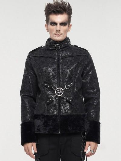 Devil Fashion Black Gothic Punk Do Old Style Daily Wear Short Jacket for Men