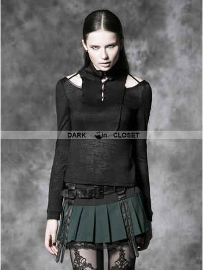 Punk Rave Green Gothic Punk Short Skirt