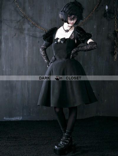 Punk Rave Black Winter Gothic Three-Piece Dress
