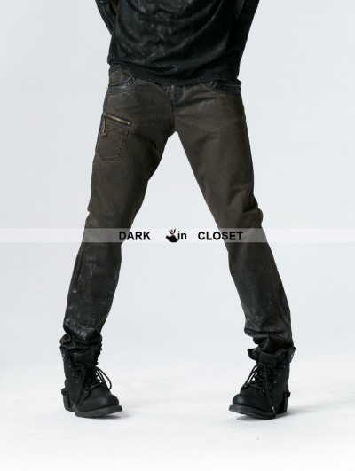 Punk Rave Coffe Gothic Punk Pants for Men