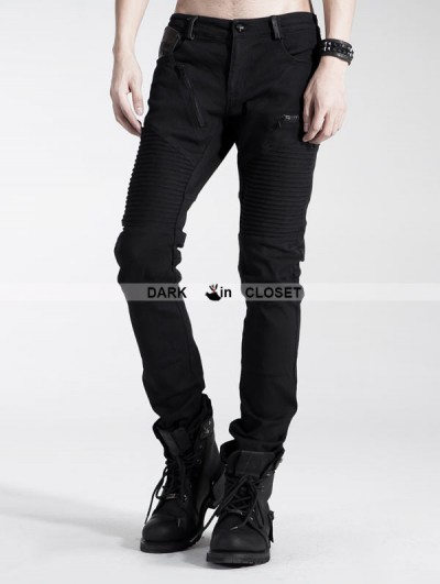 Punk Rave Black Gothic Punk Pants for Men