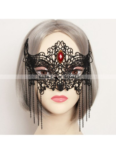 Black Pendant Lace Gothic Halloween Mask