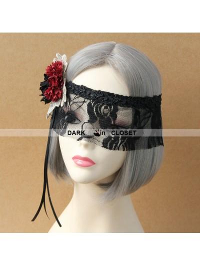 Romantic Flower Black Lace Gothic Mask