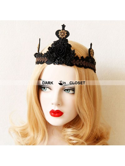 Black Gothic Princess Style Headdress