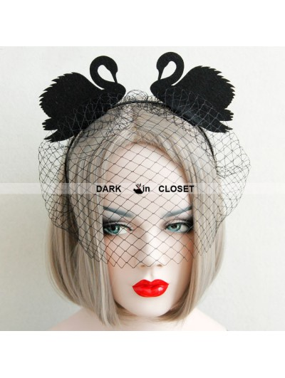 Black Gothic Swan Barrette