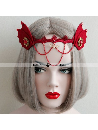 Red Halloween Gothic Headdress
