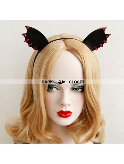 Black Devil Gothic Halloween Barrette