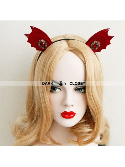 Red Devil Gothic Halloween Barrette