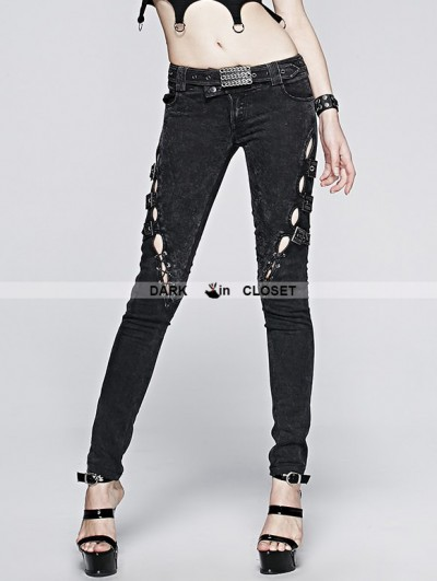 Punk Rave Vintage Gothic Punk Jeans for Women