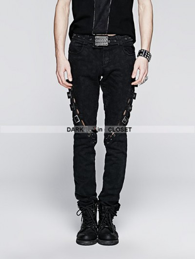 Punk Rave Vintage Gothic Punk Jeans for Men