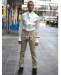 Pentagramme Yellow Alternative Pattern Gothic Pants for Men