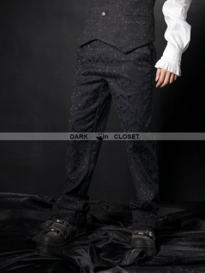 Pentagramme Simple Black Gothic Pants for Men