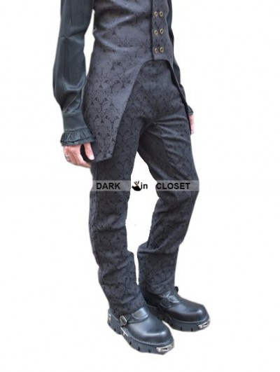 Pentagramme Black Alternative Pattern Gothic Pants for Men