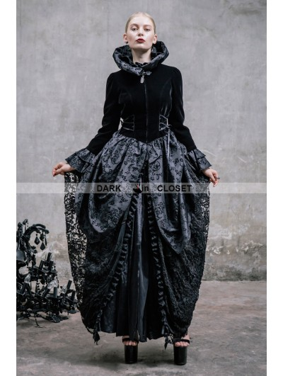 Devil Fashion Black Pattern Gothic Dress Outfit for Women