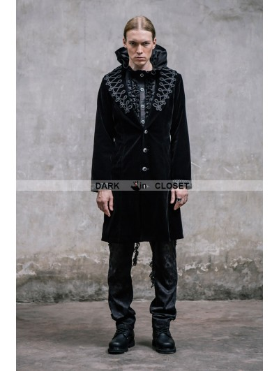 Devil Fashion Black Vintage Gothic Jacket for Men