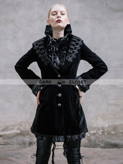 Devil Fashion Black Vintage Gothic Jacket for Women